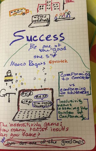 Conforming to Succeed and What it Means for People of Color - Sketchnotes
