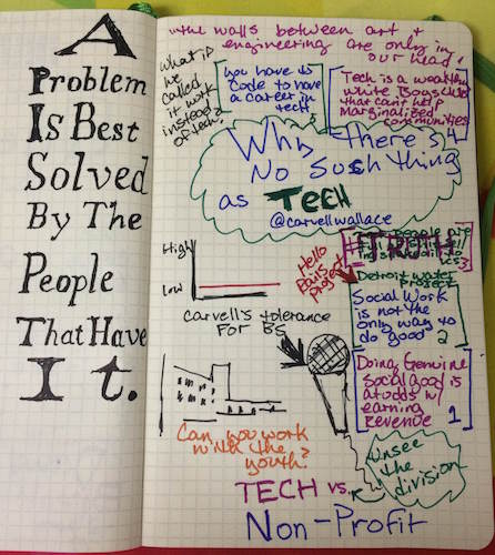 There is no such thing as tech - Sketchnotes