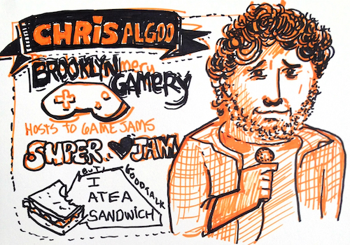 Sketchnotes of Chris