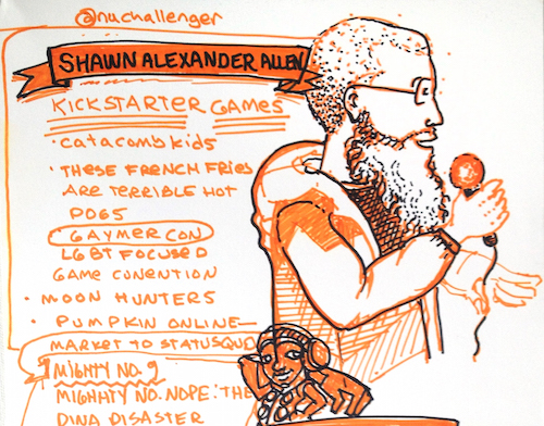 Sketchnotes of Shawn Allen