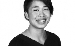 Headshot of Chi Pham, black and white